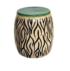 Garden Seat Zebra